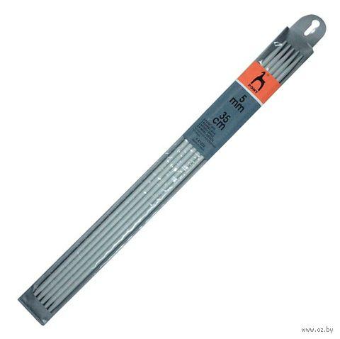 Спицы чулочные для вязания (металл; 5 мм; 35 см) — фото, картинка