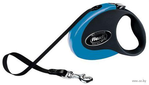 """Поводок-рулетка для собак """"Collection"""" (размер S; до 12 кг; сине-черный)"""
