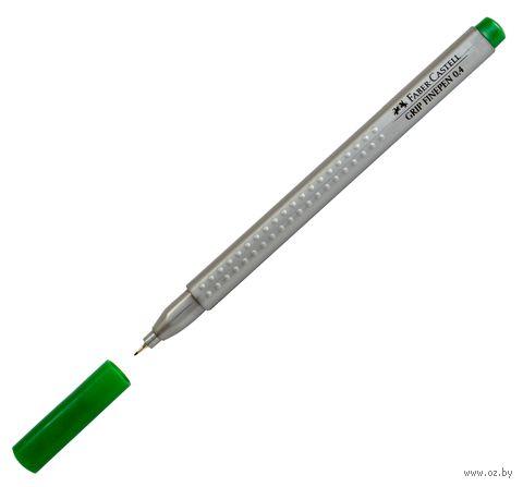 """Ручка-линер капиллярная """"GRIP FINEPEN"""" (0,4 мм; зеленая)"""
