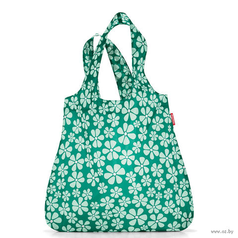 "Сумка складная ""Mini maxi shopper flowers"" (green)"