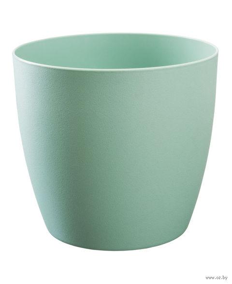 """Цветочный горшок """"Ага"""" (14 см; зеленый матовый) — фото, картинка"""