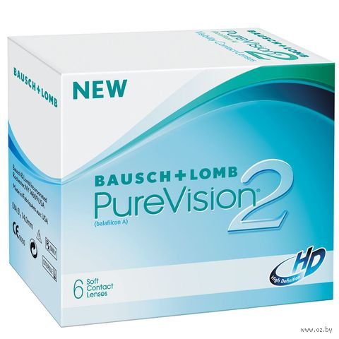 """Контактные линзы """"Pure Vision 2 HD"""" (1 линза; +3,5 дптр) — фото, картинка"""
