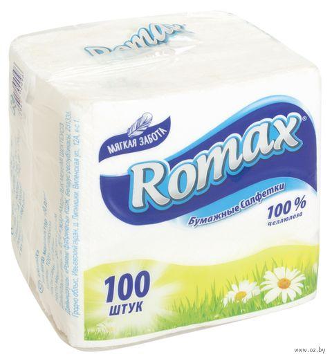 "Бумажные салфетки ""Romax"" (100 шт.) — фото, картинка"