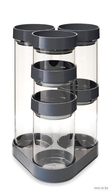 """Набор банок для сыпучих продуктов """"FoodStore Carousel"""" (серый)"""