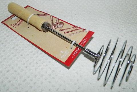 Венчик металлический с деревянной ручкой (24 см, арт. BB101347)