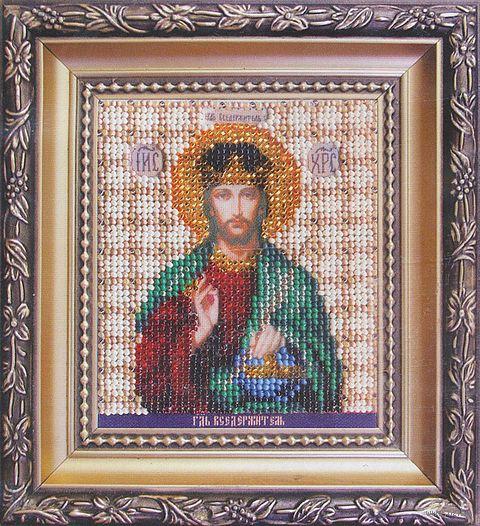 """Вышивка бисером """"Икона Господа Иисуса Христа"""""""