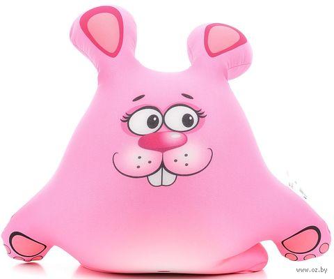 """Игрушка-антистресс """"Зайчонок"""" (41 см; розовый) — фото, картинка"""