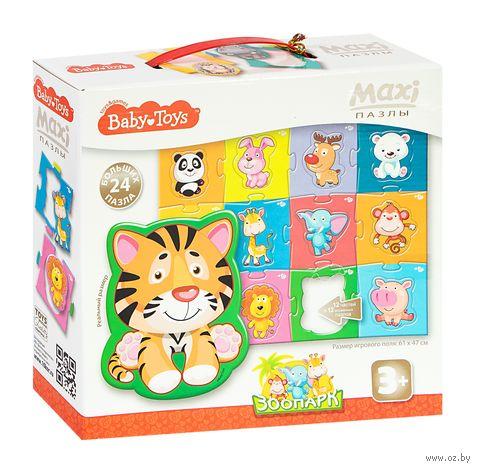 """Пазл maxi """"Baby toys. Зоопарк"""" (24 элемента) — фото, картинка"""