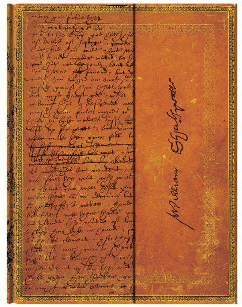 "Записная книжка Paperblanks ""Уильям Шекспир"" в линейку (180х230 мм)"