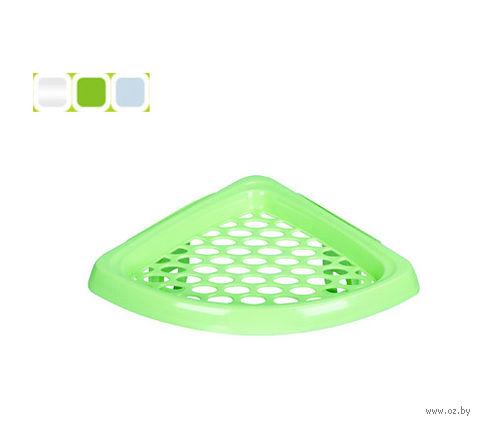 Полка для ванной угловая пластмассовая (18,5*18,5*9 см, арт. C768)
