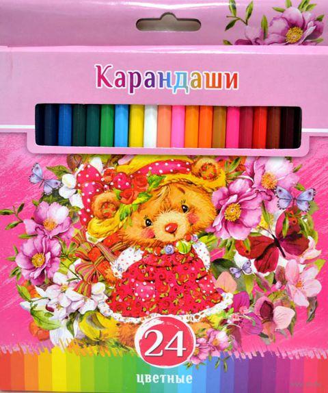 """Набор карандашей цветных """"Забавные пушистики"""" (24 цвета)"""