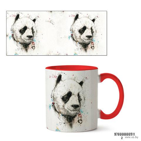 """Кружка """"Панда"""" (красная; арт. 511) — фото, картинка"""