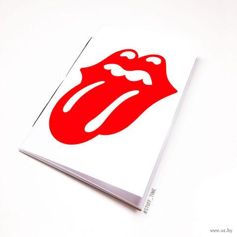 "Блокнот белый ""Rolling stones"" А6 (034)"