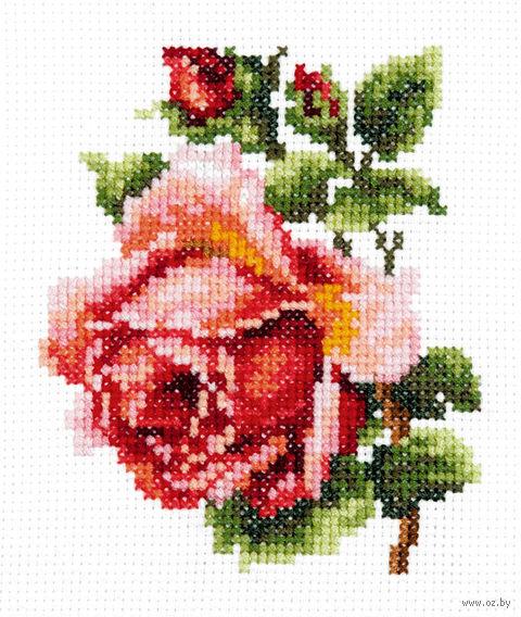 """Вышивка крестом """"Розочка"""" (100x110 мм) — фото, картинка"""