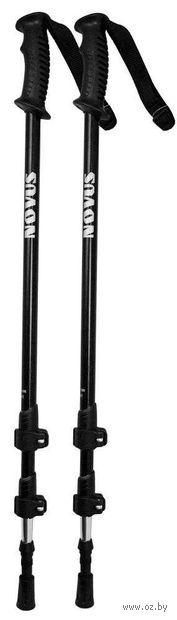 Телескопические треккинговые палки (р. 65-135 см; арт. NTP-01 black) — фото, картинка