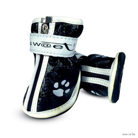 """Ботинки с """"лапками"""" (7х6х7 см; черные) — фото, картинка"""