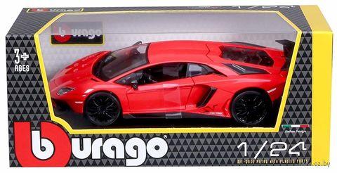"Модель машины ""Bburago. Lamborghini Aventador LP 750-4 SV"" (масштаб: 1/24) — фото, картинка"