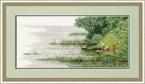 """Вышивка крестом """"Удачный улов"""" (176x380 мм) — фото, картинка"""