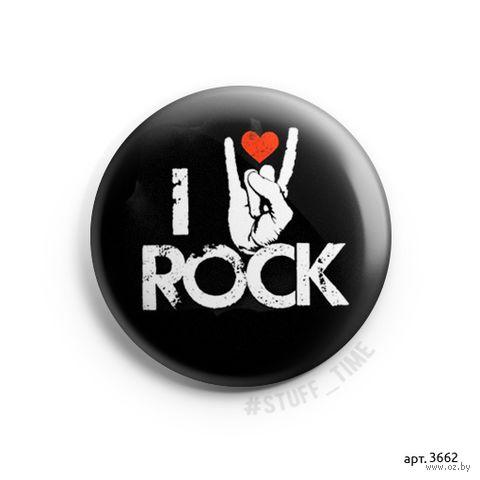"Значок маленький ""I love rock"" (арт. 3662) — фото, картинка"