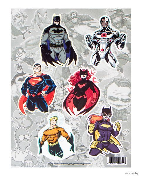 "Набор виниловых наклеек ""DC justice league №1"" — фото, картинка"