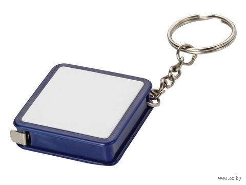 """Брелок-рулетка """"Ромб"""" (1 м, синий) — фото, картинка"""