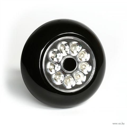 Светодиодный фонарь PUSH LIGHT 9 LED Smartbuy 3AAA (черный)