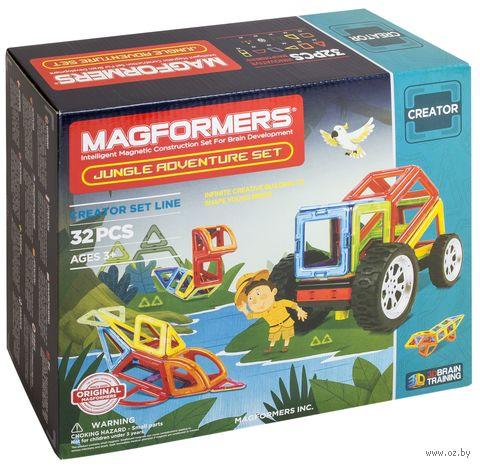 """Конструктор магнитный """"Jungle Adventure Set"""" (32 детали) — фото, картинка"""