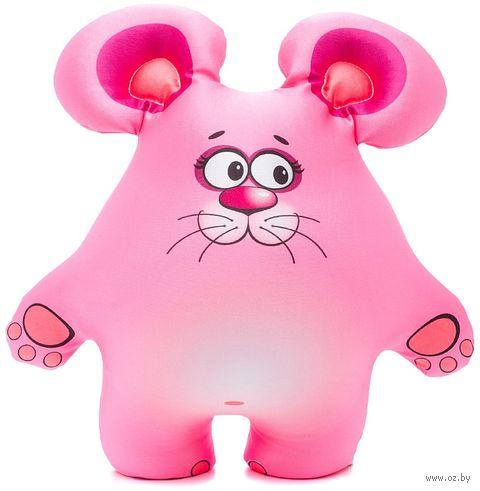 """Игрушка-антистресс """"Мышонок"""" (36 см; розовый) — фото, картинка"""
