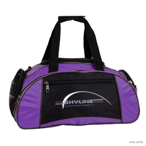 Сумка спортивная малая 6063с (36 л; фиолетовая) — фото, картинка