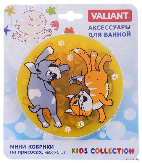 "Коврик для ванночки ""Киска и собачка"" (6 шт.) — фото, картинка"