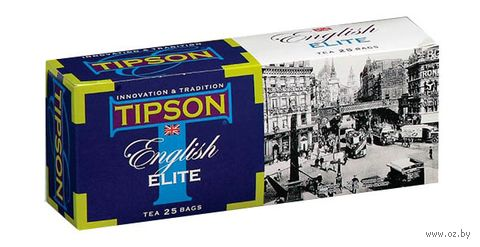 """Чай черный """"Tipson. English Elite"""" (25 пакетиков) — фото, картинка"""