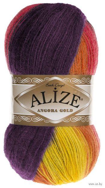 """Пряжа """"ALIZE. Angora Gold Batik №6834"""" (100 г; 550 м; секционный) — фото, картинка"""