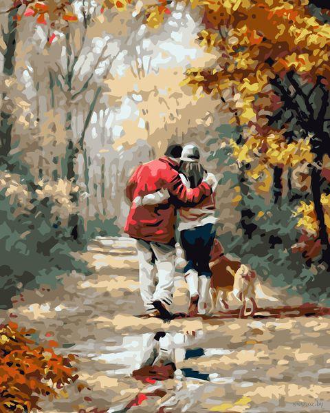 """Картина по номерам """"Осенняя прогулка"""" (400х500 мм) — фото, картинка"""