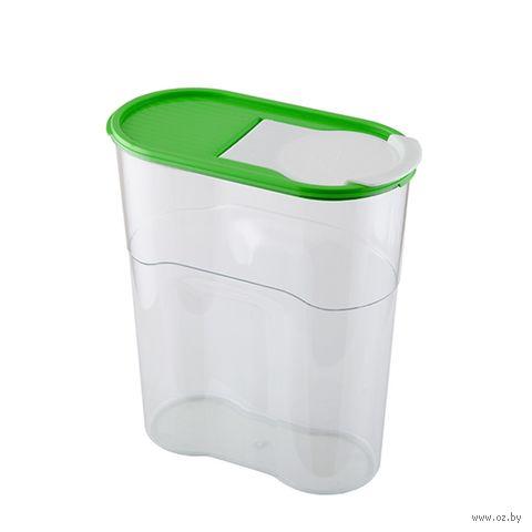 """Банка для сыпучих продуктов пластмассовая """"Люкс"""" (1,7 л) — фото, картинка"""