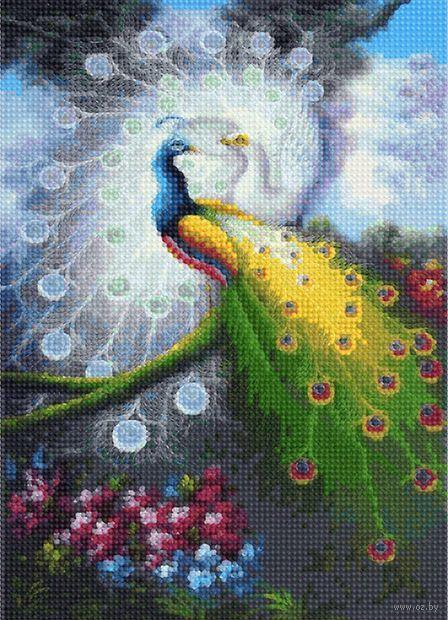 "Алмазная вышивка-мозаика ""Павлины"" (360х260 мм) — фото, картинка"
