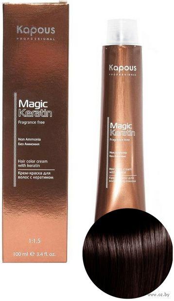 """Крем-краска для волос """"Non Ammonia"""" тон: 4.45, коричневый медный махагоновый — фото, картинка"""