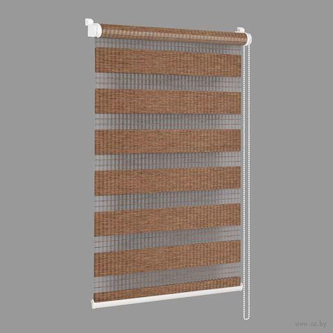"""Штора рулонная """"Сантайм. Бамбук"""" (48х160 см; мокка) — фото, картинка"""