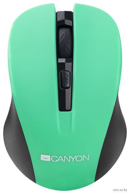 Мышь беспроводная Canyon CNE-CMSW1GR (зеленая) — фото, картинка