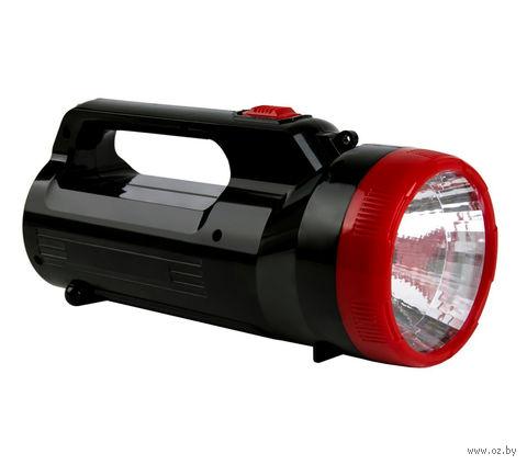Аккумуляторный фонарь-прожектор 2 в 1 2W+18 LED (черный)