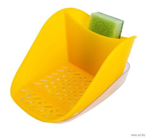 "Подставка для моющего средства и губки ""Teo plus"" (лимон) — фото, картинка"