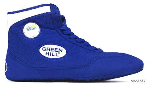 Обувь для борьбы GWB-3052/GWB-3055 (р. 41; сине-белая) — фото, картинка