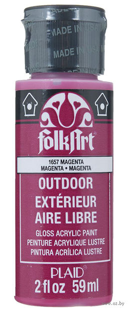"Краска акриловая ""FolkArt. Outdoor"" (пурпурная; 59 мл; арт. PLD-01657) — фото, картинка"