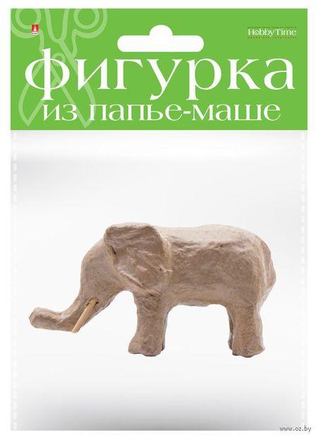 """Заготовка из папье-маше """"Слон"""" (45х130х70 мм) — фото, картинка"""