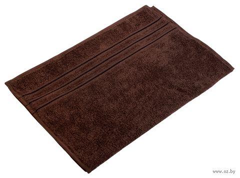 "Полотенце махровое ""Верона"" (40х70 см; темно-коричневое) — фото, картинка"
