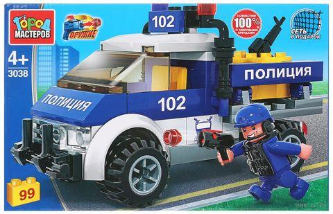 """Конструктор """"Полиция. Полицейский пикап"""" (99 деталей) — фото, картинка"""