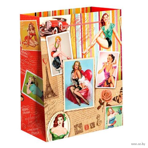 "Пакет бумажный подарочный ""Девушки"" (11х14х5 см; арт. 10733072)"