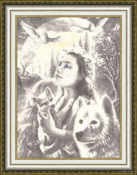 "Вышивка крестом ""Эпоха волка"" (459х334 мм) — фото, картинка"