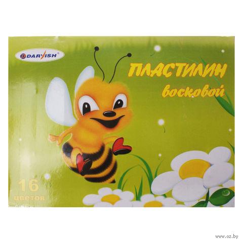 """Пластилин восковой """"Darvish"""" (16 цветов)"""