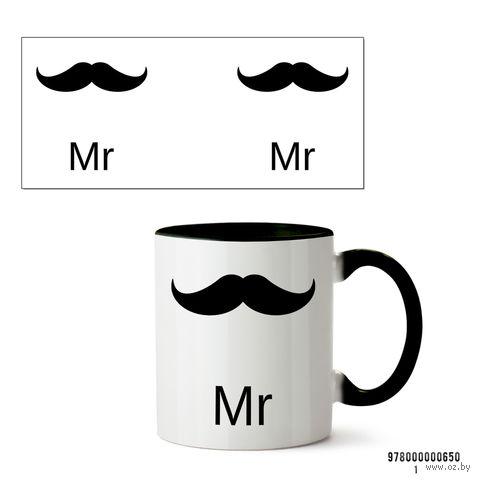 """Кружка """"Mr"""" (арт. 650, черная)"""