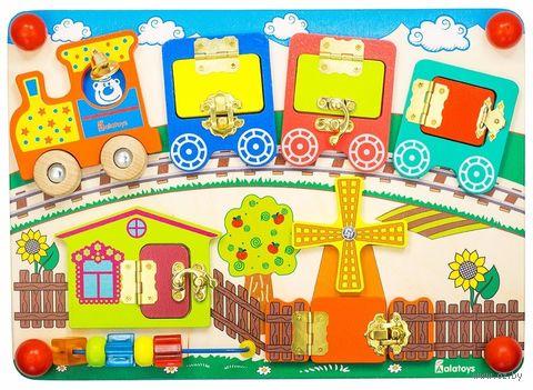 "Деревянная игрушка ""Бизиборд. Вагончики"" — фото, картинка"